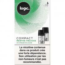 Cartouche - capsule scellé Compact Logic, saveur menthe fraiche pour Pod Logic compact, pas cher.