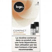 Cartouche - capsule scellé Compact Logic, saveur tabac classic blond pour Pod Logic compact, pas cher.