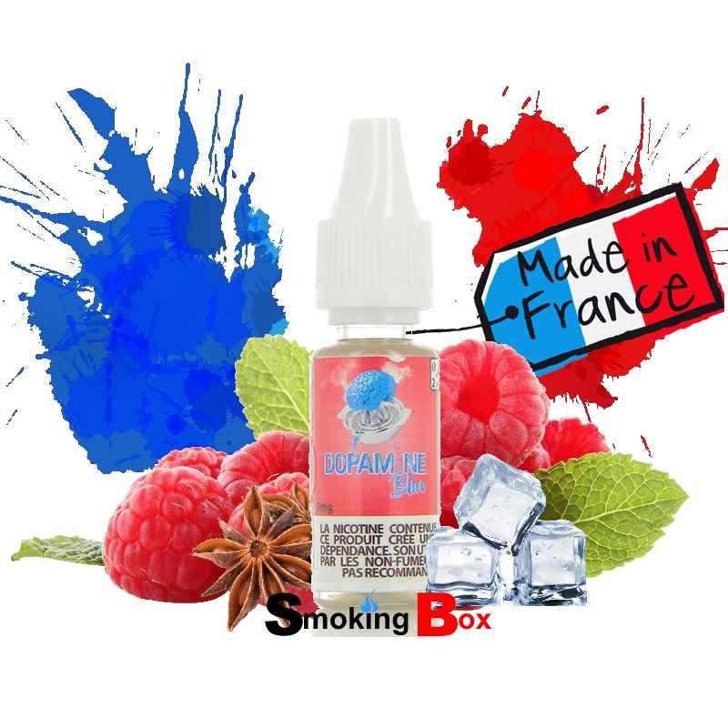 E-liquide dopamine blue bordo2 premium, saveur framboise, grenade anisée, frisson de menthe d'arctique, prix pas cher.