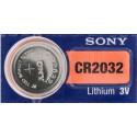Pile Sony CR 2032 pile bouton lithium,à l'unité