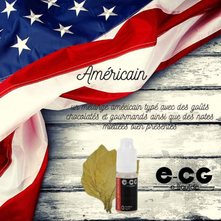 E-liquide AMERICAIN VAP E-CG - Tabac bond américaine - Smokingbox