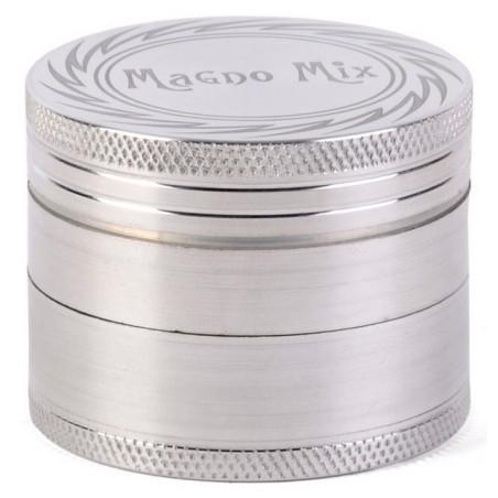 Grinder métal XL Ø50mm silver 4 parties