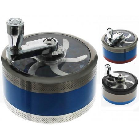 Grinder à manivelle (moulin) métal - 3 parties - Ø60 mm
