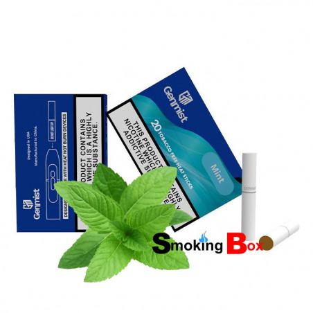 Mint (saveur menthe) Genmist stick heets aux herbes (HNB) 0% nicotine sans tabac - compatible iqos