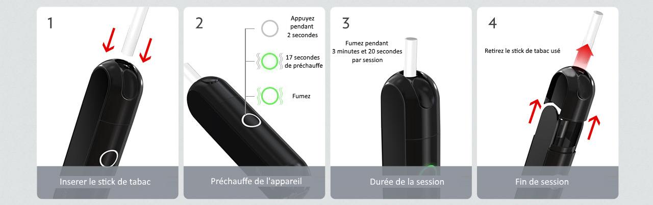 Imate Vaption, schéma d'utilisation et d'entretien de nettoyage pour le tabac chauffé