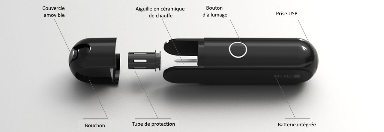 Six hill imate vaption - cigarette à nocivité réduite pour sticks tabac chauffé heet