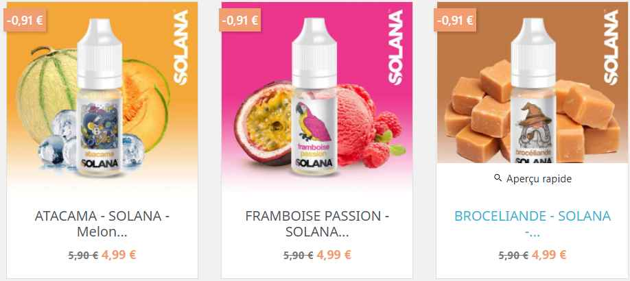 solana e-liquide france
